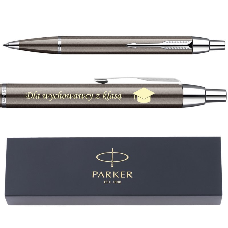 Długopis Parker IM Gun Metal CT GRAWER