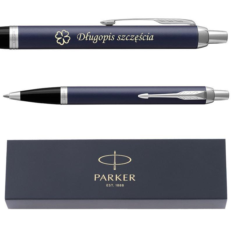 Długopis Parker IM Niebieski Mat CT Grawer