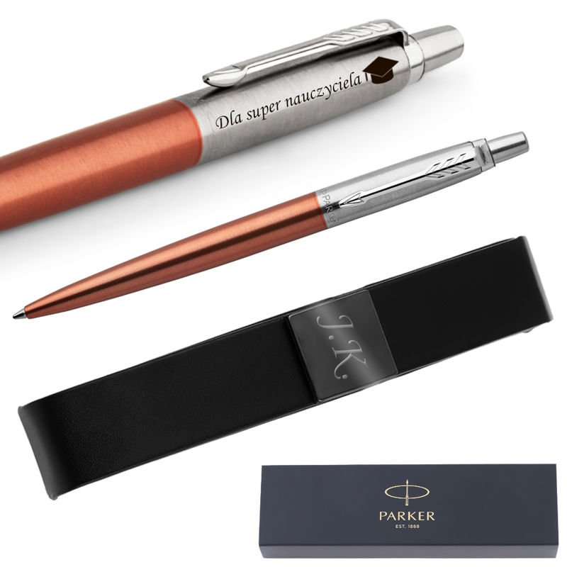 Długopis Parker Jotter CT Chelsea Orange + Etui Grawer