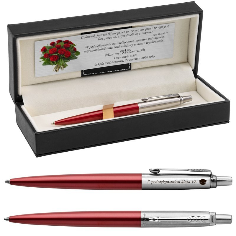 Długopis Parker Jotter CT Kensington czerwony z Grawerem