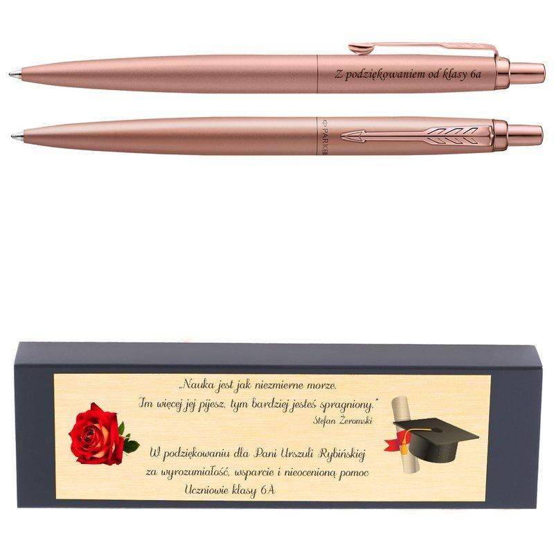 Długopis Parker Jotter XL Monochrome Pink Gold Grawer i Dedykacja