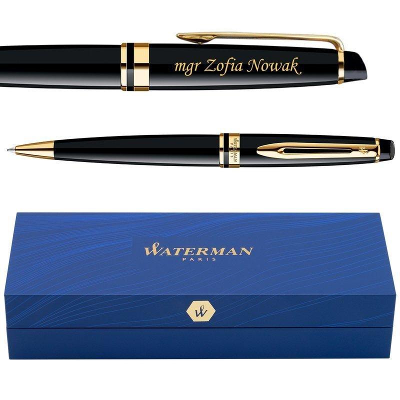 Długopis Waterman Expert czarny GT GRAWER