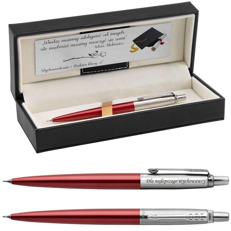 Ołówek Parker Jotter CT Czerwony Kensington Pudełko z Grawerem