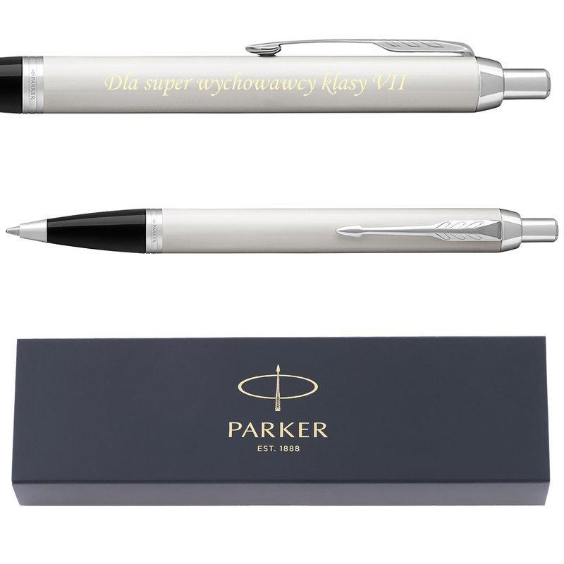 Parker IM Długopis Brushed Metal GT Grawer