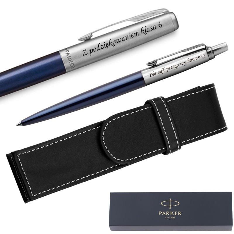 Zestaw Pióro + Długopis Jotter Parker Royal CT + Etui Grawer