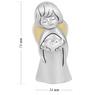 Aniołek  z sercem 7 cm Srebro Grawer Dedykacja Pamiątka chrzest 2