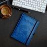 Notes reklamowy pamiętnik A5 Nebraska Błękitny z gumką z Grawerem 2