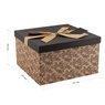 Pudełko na prezent Czarne 30,5 18 cm XXL+ 2