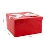 Pudełko na prezent Czerwone 30,5 x 18 cm rozmiar XXL+ 2