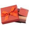 Pudełko na prezent bordowe w paski XS 3
