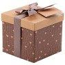 Pudełko na prezent brązowe serduszka S 1