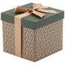 Pudełko na prezent brązowe z zielenią S 1