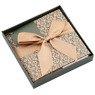 Pudełko na prezent brązowe z zielenią S 3