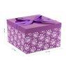 Pudełko na prezent fioletowe rozmiar L 22,5 x14 cm 2