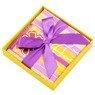 Pudełko na prezent fioletowo-żółte paski XS 3