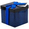 Pudełko na prezent granat niebieski wzór S 1