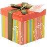Pudełko na prezent kolorowe paski z tulipanem S 1