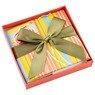 Pudełko na prezent kolorowe paski z tulipanem S 3