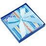 Pudełko na prezent niebieskie w paski M 3