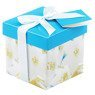 Pudełko na prezent niebieskie z kwiatkami XS  1