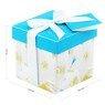 Pudełko na prezent niebieskie z kwiatkami XS  3