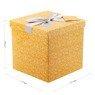 Pudełko na prezent pomarańczowe w gwiazdki M+ 2