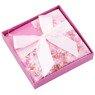 Pudełko na prezent różowe kwiaty S 3