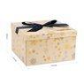 Pudełko na prezent żółte w płatki śniegu XL 3