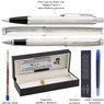 Zestaw Parker IM Pióro + Długopis Białe CT Grawer  7