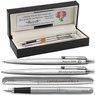 Zestaw Pióro Długopis Ołówek Parker Jotter stalowe CT Etui z Grawerem 1