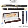 Zestaw Pióro Długopis Parker IM Czarny GT Drewniane Etui Grawer 9
