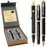 Zestaw Pióro Wieczne Długopis Parker IM Black GT z Grawerem 1
