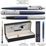 Zestaw Pióro wieczne Długopis Jotter Parker Royal Granatowy CT z Grawerem 3