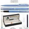 Zestaw Pióro wieczne Długopis Waterman Allure niebieskie CT Etui z Grawerem 4