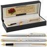Zestaw Pióro wieczne i Długopis Waterman Hemisphere stalowy GT Grawer 1